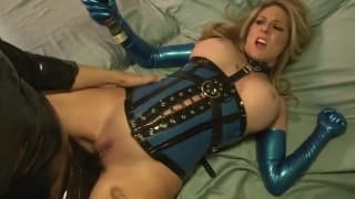 A latex fetish for this busty slut