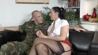 A student and an army boy get hot together
