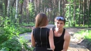Albina enjoys this outdoor threesome!