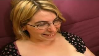 This blonde milf is a hot porn casting