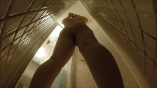 A hidden camera that sees her in the shower