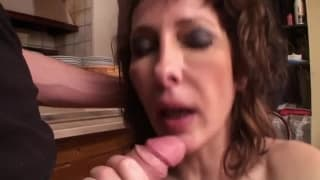 A threesome with a mature woman