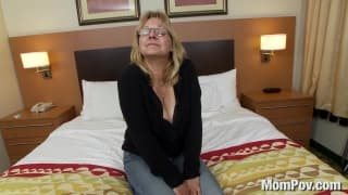 Enjoying a tit wank with a milf in POV