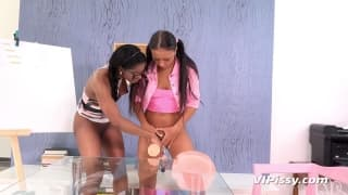 Bailey and Jasmine Webb piss on each other