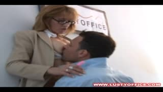 A kinky secretary has a deep ass fucking