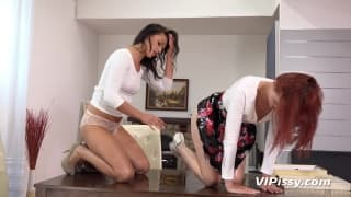 Iris Amore and Daphne get pissy