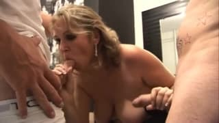 Blonde milf will suck dick anywhere