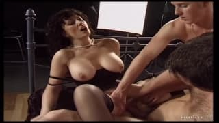 Jessica Blake in a threesome for her to enjoy