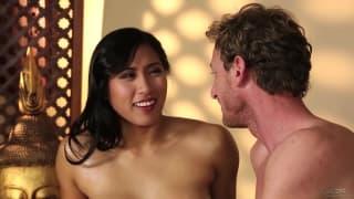 Mia Li is sensually massaged by Ryan McLane