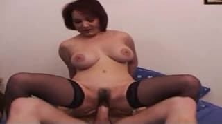 This milf has her ass fucked hard