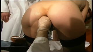 This slut gets completely fisted in the ass