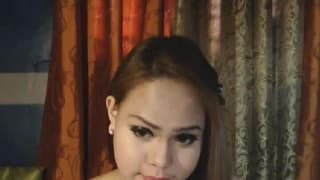 A beautiful tranny shows us her dick on cam