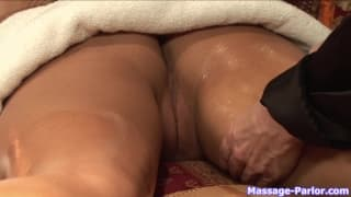 RayVeness and Stephanie Cane enjoying massage