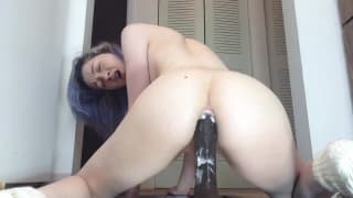 This bitch is into nasty asshole dildoing
