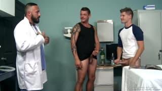 Alessio Romero sucking with two friends