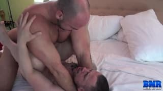 A bareback sex session with Russ and Tyler