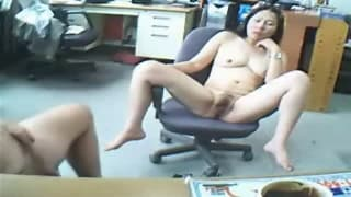 Fucking in the office chair today