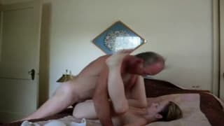 Pussy fucking in bed for these amateurs