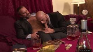 Adam Russo sucks the dick of Dirk Caber