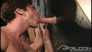 Fucking after a gloryhole session