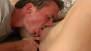 He puts his dick deep inside her