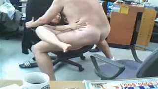 Having a fuck in the work office