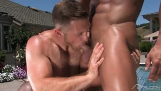 Cody Cummings and Johnny Torque in a scene