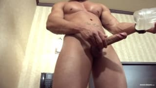 Zack loves to use his sextoy when jerking off