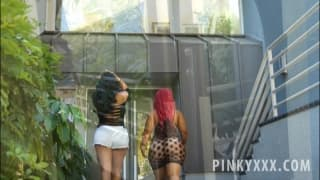 Kiara Mia and her friend Pinky