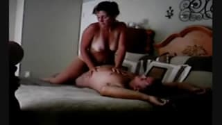 This woman enjoys riding her man