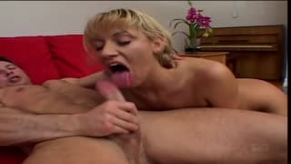 Blonde babe gets a hard ass fucking
