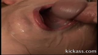 Kelly Wells deep throats all of these dicks
