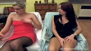 Melania and Promesita finger themselves