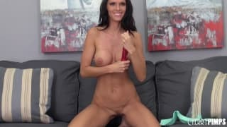 Jennifer Dark with a dildo and a dick