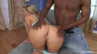 An interracial ass fucking to enjoy watching