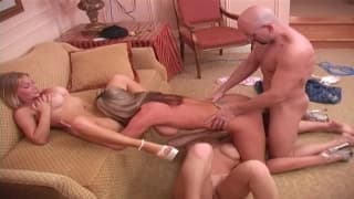 Group sex with two horny sluts to enjoy