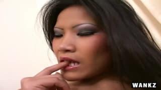 Christina fucks her pussy with a dildo