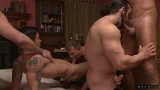 A big orgy with pornstar Billy Santoro