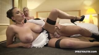 Jane and Lexi Lowe fuck the same dick