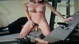 Masturbating in the middle of the gym