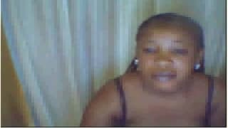 This black woman enjoys being on cam
