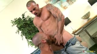 Mario Costa has a blowjob from Damien Crosse