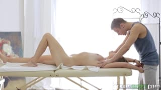 A sensual massage turns to fucking