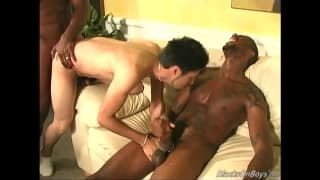 A threesome with two black guys