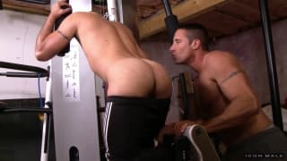 Nick Capra sucks dick in the gym