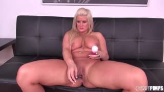 Julie Cash uses her favourite dildo