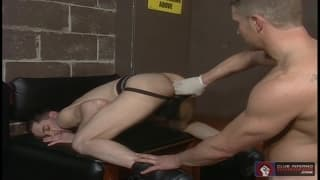Justin Lake feels a tight fist in his ass