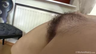 Agneta has a hairy pussy to enjoy alone