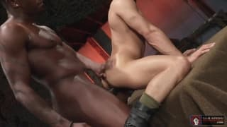 Interracial fucking with dildo and hot sex