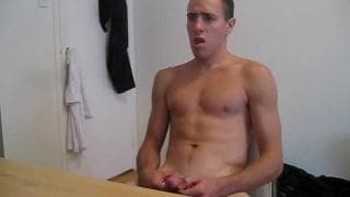 This young gay guy can't wait to cum for us